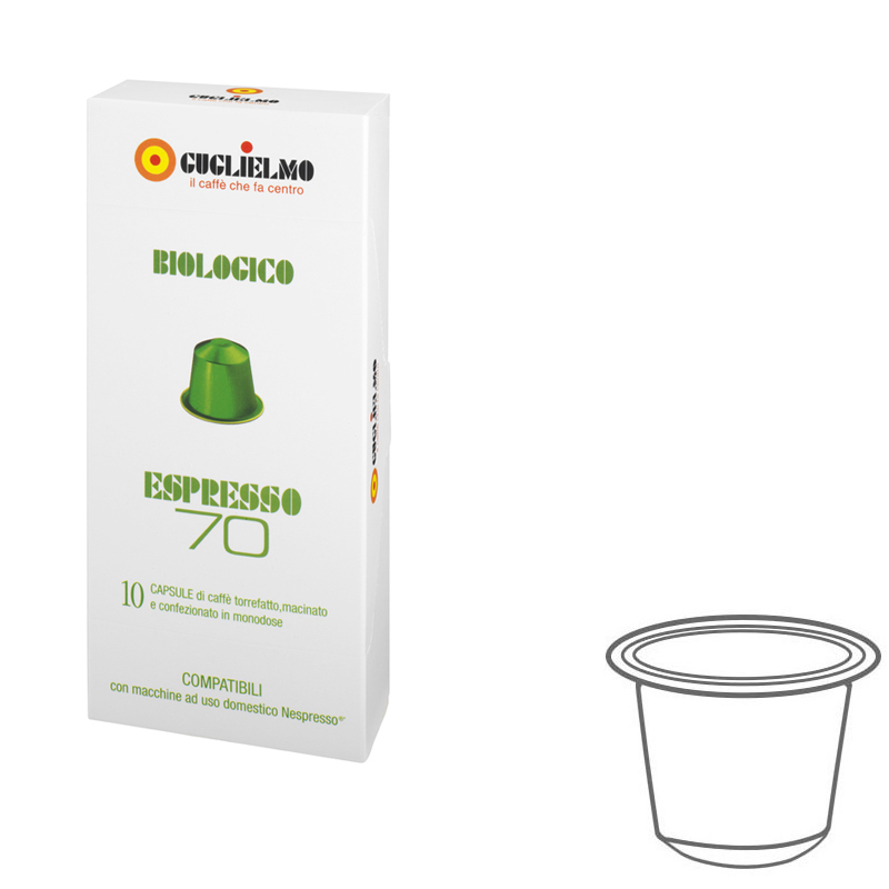 Espresso70 Organic Coffee Capsules 120 pieces
