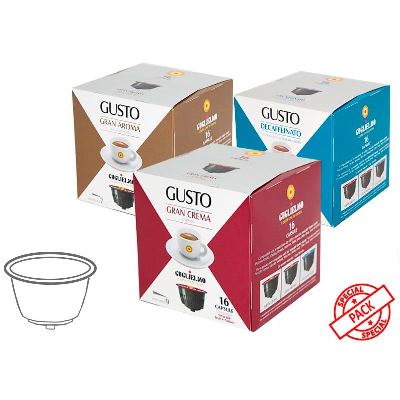 Gusto Tasting Pack Capsules 128 Pieces